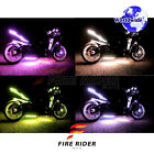 For Cagiva V Raptor 2 Pcs RGB Light Strips 145mm Bendable Fairing Frame Design