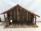 LARGE Wooden Handcrafted Nativity Creche Stable Christmas Manger 24 X 155 NICE