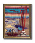 Southwestern Native Indian Pottery 2 Wall Picture Gold Framed Art Print