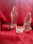 FLAWLESS Stunning BACCARAT Art Crystal NATIVITY HOLY MARY JOSEPH JESUS Figurines
