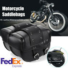 Universal Motorcycle Side Saddlebags for Honda/Suzuki/Kawasaki/Yamaha (US Stock)