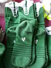 NIKE Elite Cushioned Basketball Crew Socks Large Gym Green White 3 Pair