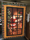 Window Santa Quilt New Homemade Baby Lap Wall Couch 37 1 2 x 50