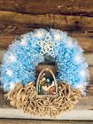 LED Lighted Manger Christmas Wreath
