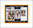 AUBURN BEATS ALABAMA 2019 IRON BOWL MATTED MULTI IMAGE COLLAGE PIC OF PAPERS 2