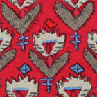 HERMES Native American Indian Aztec Necklace Dove Red 7184 UA Mens Silk Neck Tie