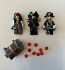 LEGO Pirates of the Caribbean Minifigures: Jack Sparrow, Barbossa,