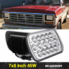 2x 7x6 LED Headlights Hi Lo Sealed Beam H6052 H6054 For Ford E 150 E 250 E 350