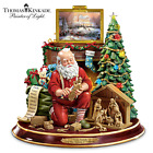 Holiday Thomas Kinkade True Meaning Of Christmas Figurine Santa Nativity Gifts