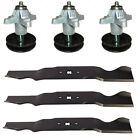 Mower Deck Parts Spindles  Blades Kit Fits Cub Cadet GT1054 54 Lawn Tractor