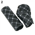 2pcsset Car Faux Leather Gear Shift Knob Cover Hand Brake Cover Sleeve