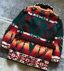 Vintage 90s RALPH LAUREN COUNTRY native double breasted knit cardigan gown F S