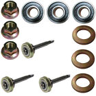 3 Complete Shafts For 187291 192872 With Both Bearings Blade Bolt Locknut Spacer
