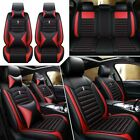 11pieces Car Seat Cover Full Set Front Rear Protectorcushion Leather Interior
