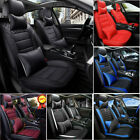 11pieces Car Seat Cover Full Set Front Rear Protector+Cushion Leather Interior