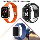 38/42/40/44mm Silicone Sport Band /Nylon Loop For Apple Watch Series 5 4 3 2 1