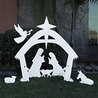 EasyGoProducts Outdoor Nativity Scene Set DecorationChristmas Yard 4 Foot Tall