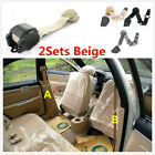 3 Point Lap Beige Seat Belt W Quick Release Camlock For Car Interior Accessories