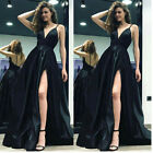 Women Formal Wedding Evening Party Prom Ball Gown Cocktail Maxi  Long Dress