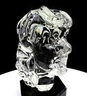 STUDIO ART GLASS SOLID CLEAR WHIMSICAL FACE LONG HAIRED 5 3 4 BUST