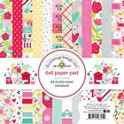 Scrapbooking Crafts Doodlebug 6X6 Paper Pad Love Notes Flowers Hearts Letters