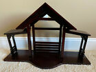 MINT LENOX LARGE WOOD DELUXE FIRST BLESSING NATIVITY CRECHE STABLE MANGER