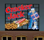 CRACKER JACK BILLBOARD ANIMATED NEON SIGN FOR HO/N SCALE-LIGHTS, FLASHES
