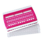 30 Positions Yarn Floss Thread Organizer Tool Sewing Needle Holder Rose Red
