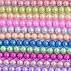 Glass Pearl Round Beads with hole for Jewelry Making Crafts 3 4 6 8 10 12 14 mm
