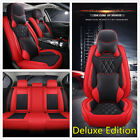 1Set Deluxe Edition 5 seats Car Microfiber Leather Seat Cover Cushion W Pillows