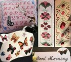 Kittens  Letters  Butterflies  Floral Bookmarks 4 CROSS STITCH PATTERNS