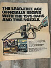 Vintage STANDARD / AMOCO Advertising Paper Insert - Lead free Gas - 1974