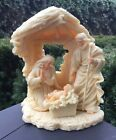Vintage Nativity Set Manger with Mary Joseph and Jesus Made in Italy