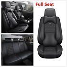 Luxury PU Leather 6D Surround Breathable Car Full Set Seat Cover Pad W Headrest