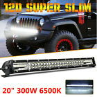 20 300W 12D Dual Row LED Work Light Bar Driving Fog Lamp For Car 4x4 Off road