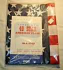 Vintage Original 1959 49 Star American Flag Set Of 3 Unhemmed In Original Bag