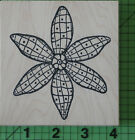 Checkered Flower H108 rubber stamp by Outlines Rubber Stamp Co New