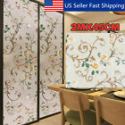 45cm2m Static Cling Cover Frosted Window Glass Film Sticker Privacy Home US