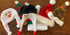 Disney Frozen Olaf Winter Soft Plush Beanie Ski Hat Snowman Santa Elf Lot Of 6
