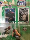 1997 Tim Brown and Fred Biletnikoff Signed NFL Classic Doubles Starting Lineup