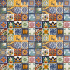 100 Asorted 4x4 Tiles Handmade Handpainted Talavera Mexico Tile 002