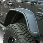 For Jeep Wrangler 18 19 Bushwacker Flat Style Matte Black Rear Fender Flares