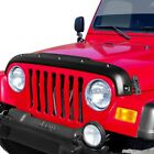 For Jeep Wrangler 97 06 Tough Guard TS 7W96 Smooth Black FormFit Hood Protector