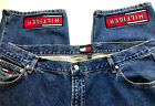 True Vintage Tommy Hilfiger  Baggy Jean Spell Out Size 42 x 30 Made in USA