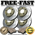 J0648 FIT 2006 2007 BMW 530Xi E60 Sedan Drill Brake Rotors Ceramic Pads F+R GOLD