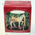 1999 HALLMARK A Pony for Christmas Keepsake Ornament 2nd In Collectors Series