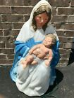 Vintage TPI Mary With Baby Jesus Nativity Christmas Outdoor Lighted Blow Mold