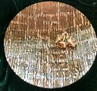 Handmade fused glass Large 16 serving bowl Metallic Golds  Copper MADE IN USA