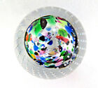 Vintage Controlled Bubbles Art Glass Paperweight Signed A Y