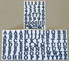 Creative Memories Alphabet Letter ABC and number 123 stickers Deep Blue